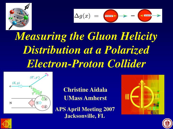 measuring the gluon helicity distribution at a polarized electron proton collider n.