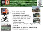 programas de transporte vinculados con programas ambientales locales