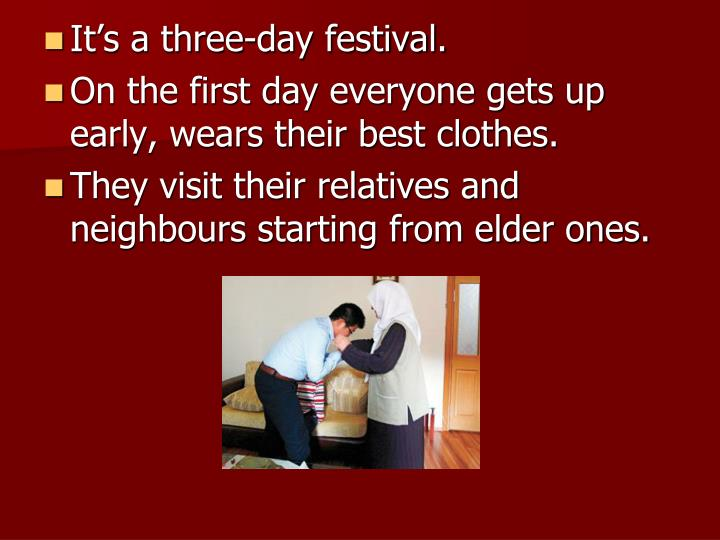 It's a three-day festival.