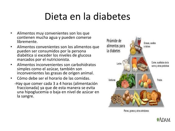 Dieta en la diabetes