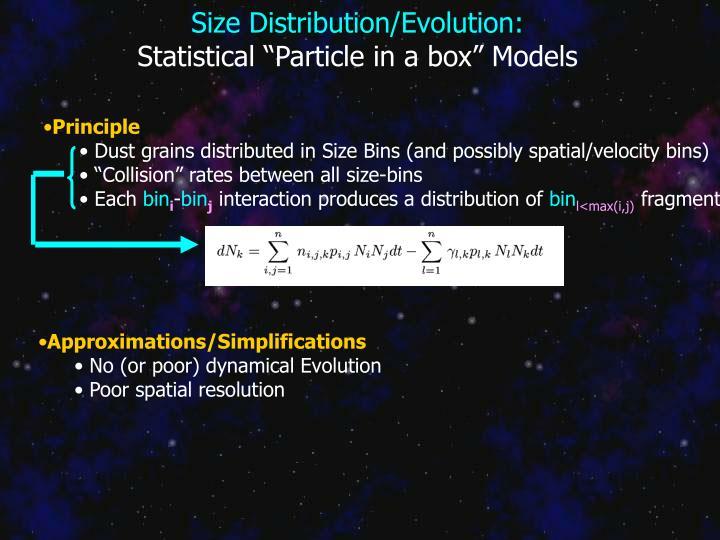 Size Distribution/Evolution: