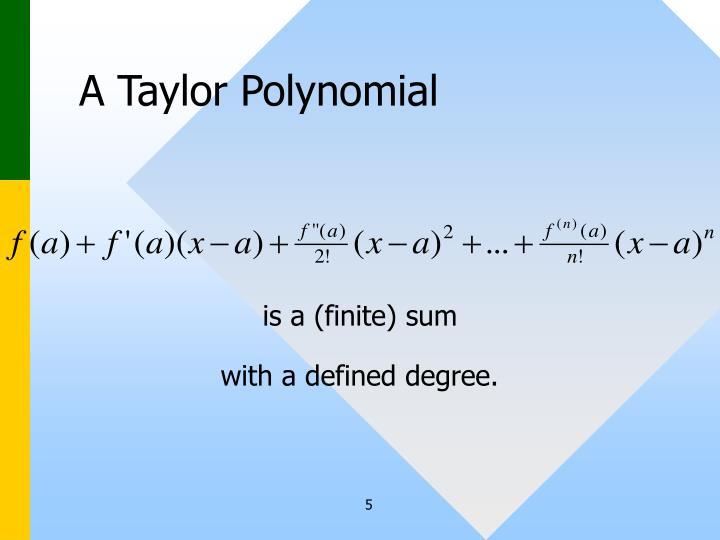 A Taylor Polynomial