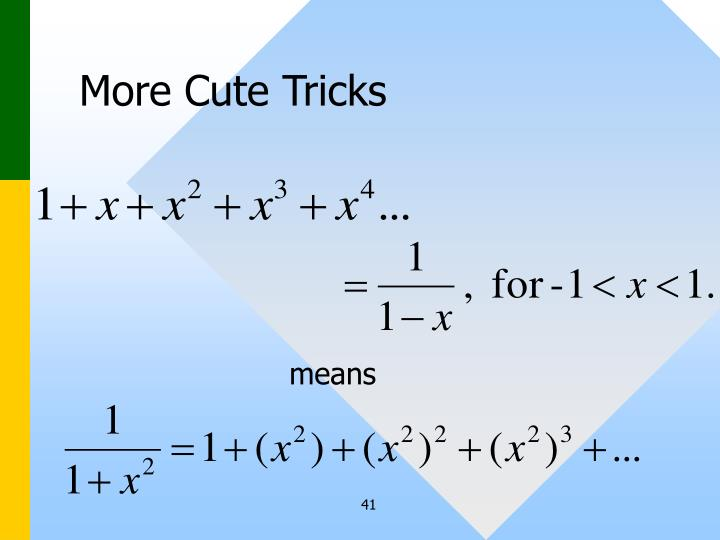 More Cute Tricks