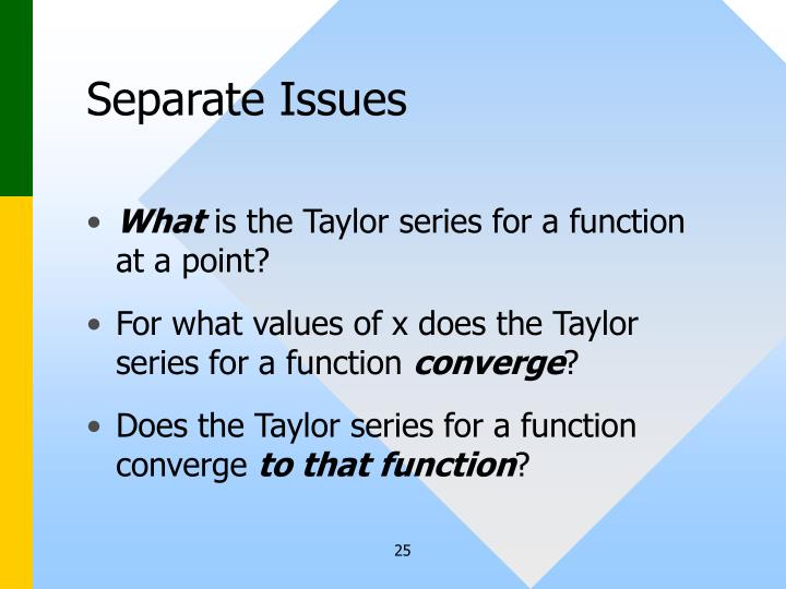 Separate Issues