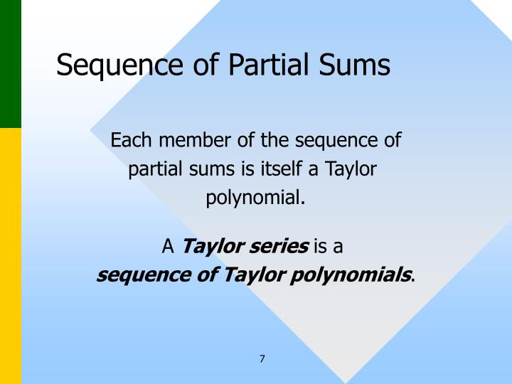 Sequence of Partial Sums
