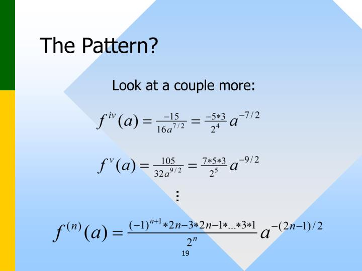 The Pattern?