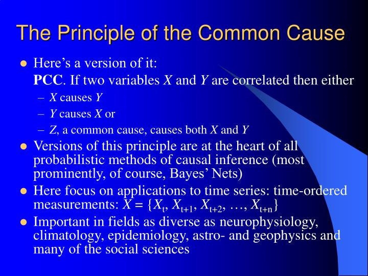 The principle of the common cause