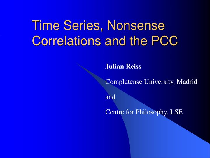 Time series nonsense correlations and the pcc