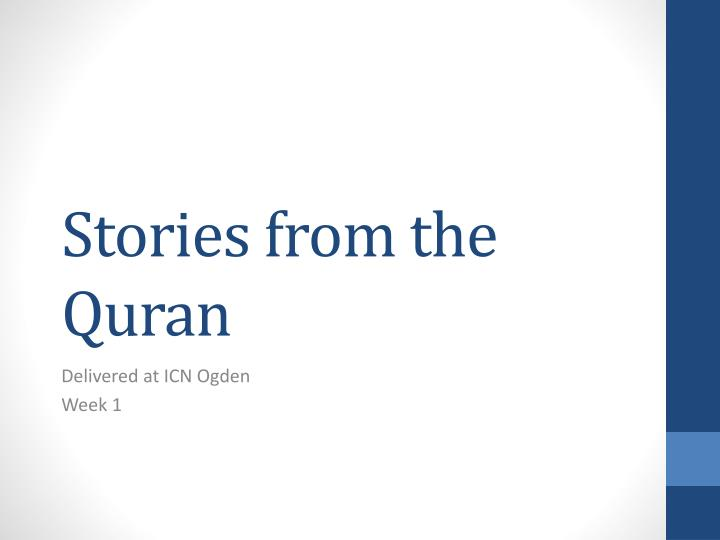 stories from the quran n.