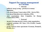 support for energy management in ukraine