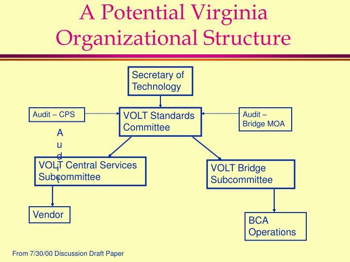 A Potential Virginia Organizational Structure