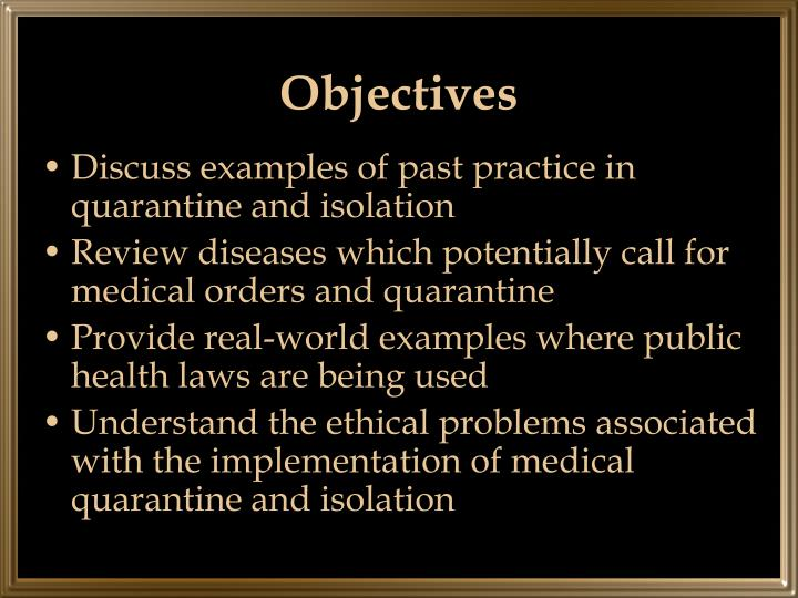 advantages of medical isolation and quarantine essay