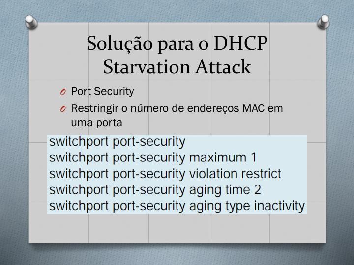 Solução para o DHCP