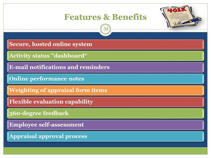Features & Benefits