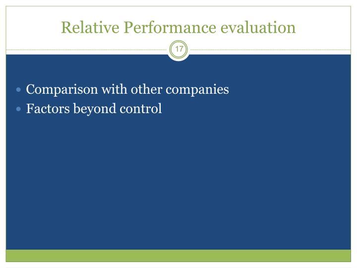 Relative Performance evaluation