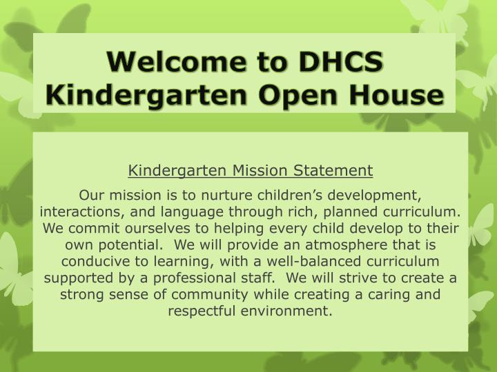 PPT Welcome To DHCS Kindergarten Open House PowerPoint