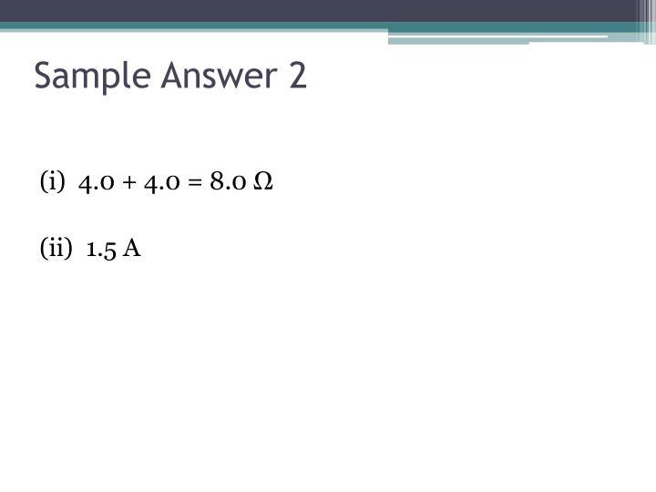 Sample Answer 2