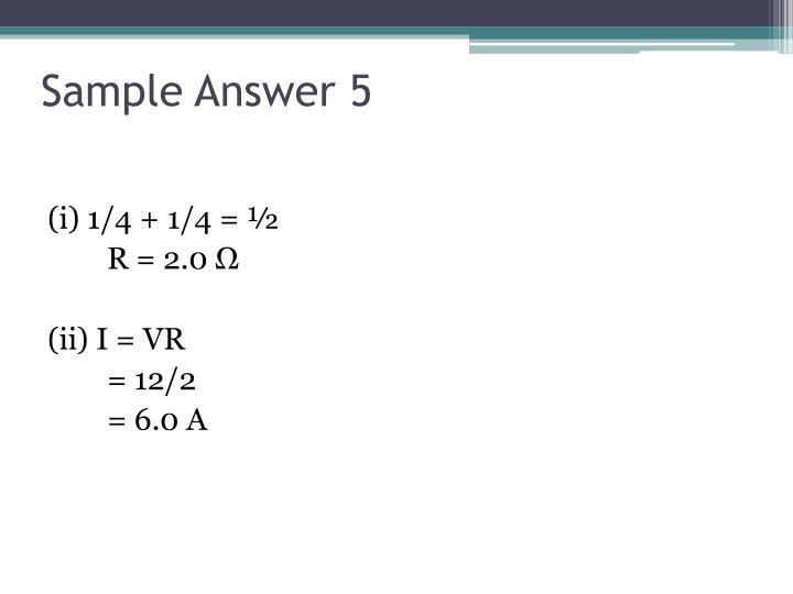 Sample Answer 5