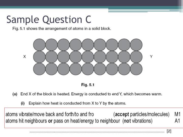 Sample Question C