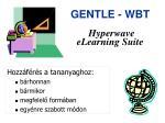gentle wbt hyperwave elearning suite