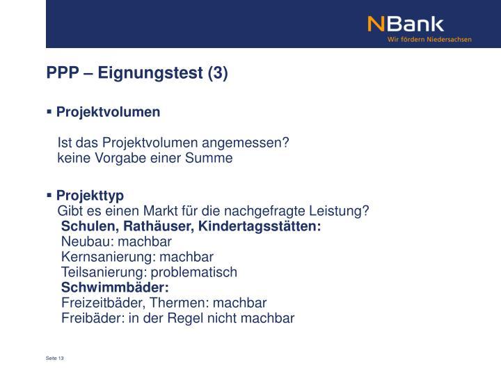 PPP – Eignungstest (3)
