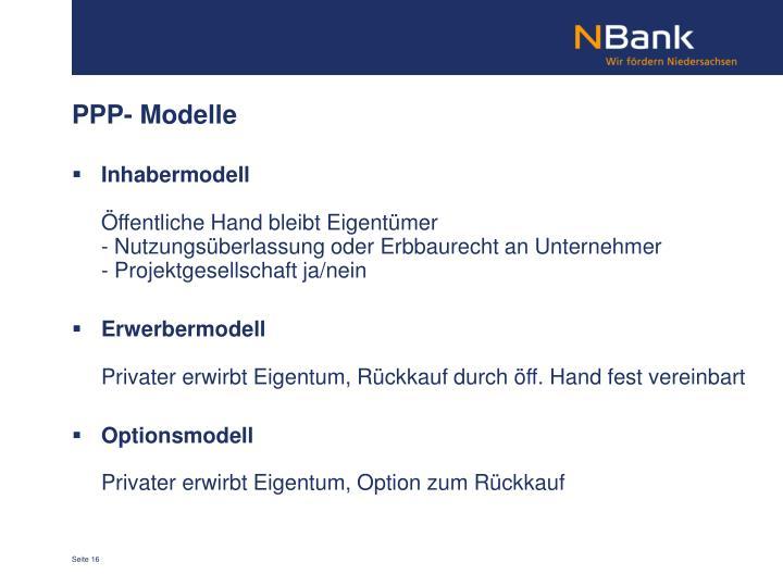 PPP- Modelle