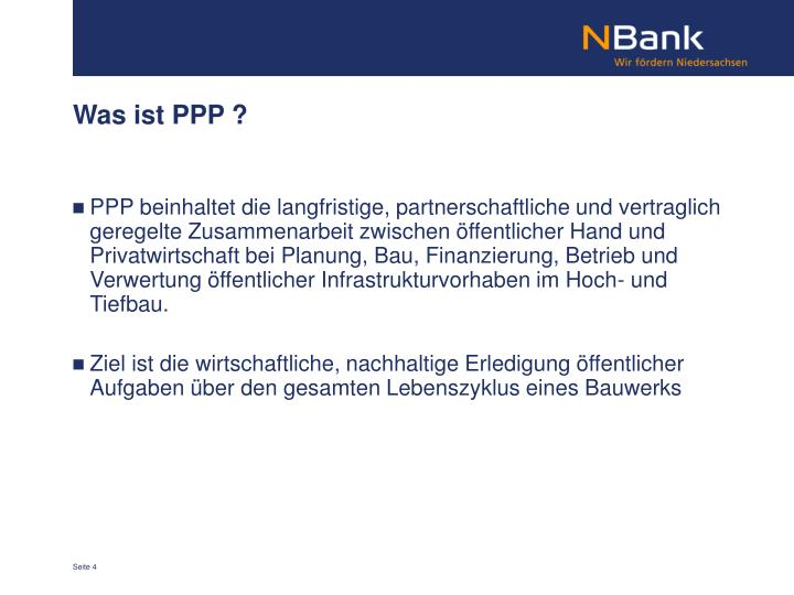 Was ist PPP ?