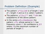 problem definition example