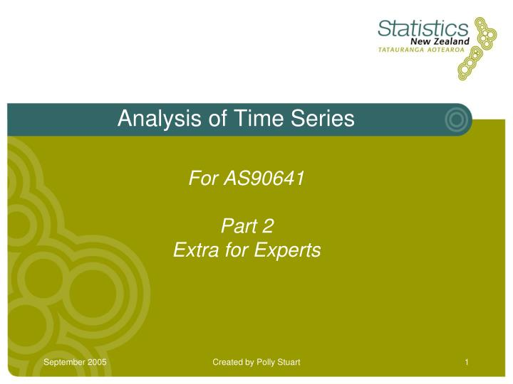 analysis of time series n.