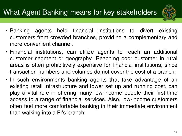 What Agent Banking means for key stakeholders
