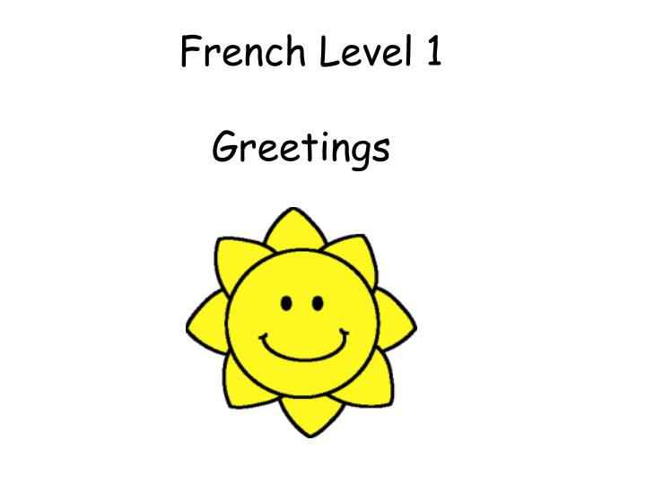 French level 1