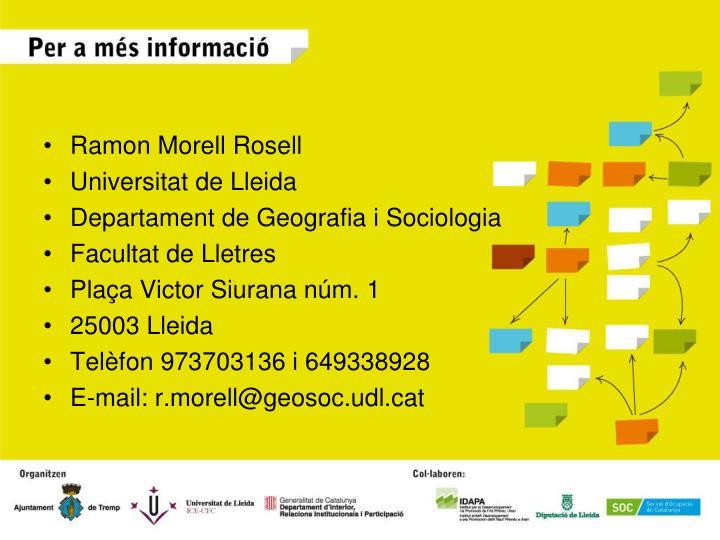 Ramon Morell Rosell