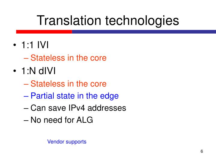 Translation technologies