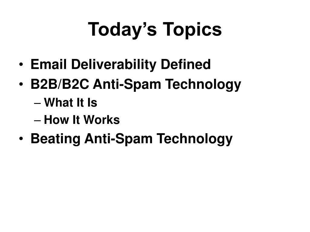 PPT - B2B/B2C Email Deliverability Webinar PowerPoint Presentation