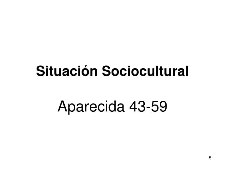 Situación Sociocultural