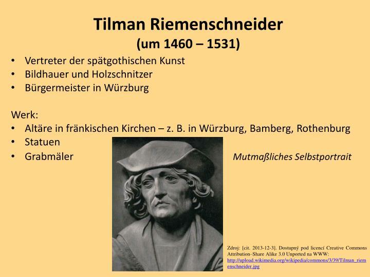 Tilman riemenschneider um 1460 1531