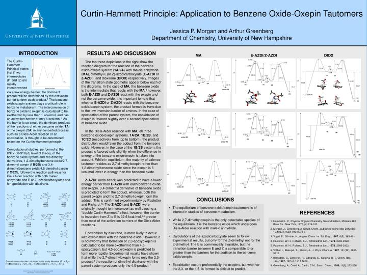PPT - Curtin-Hammett Principle: Application to Benzene Oxide-Oxepin