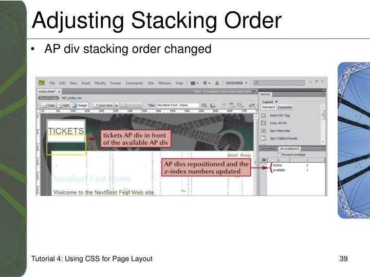 Adjusting Stacking Order