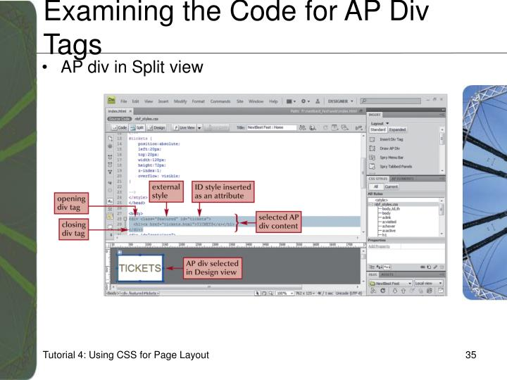 Examining the Code for AP Div Tags