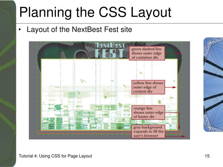 Planning the CSS Layout