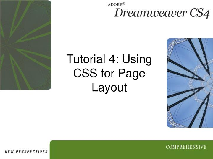 Tutorial 4 using css for page layout