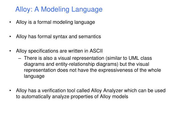 Alloy a modeling language