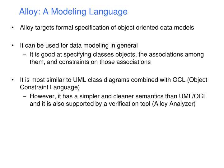 Alloy a modeling language1