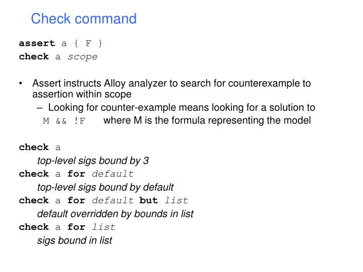 Check command