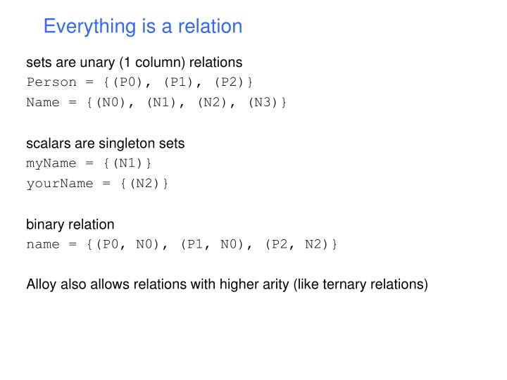 Everything is a relation