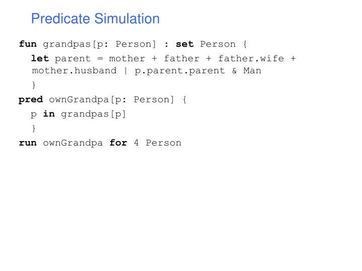 Predicate Simulation
