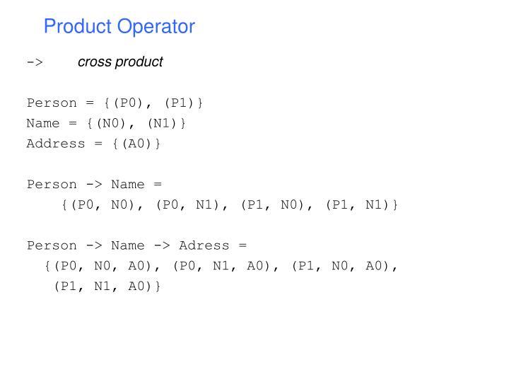 Product Operator