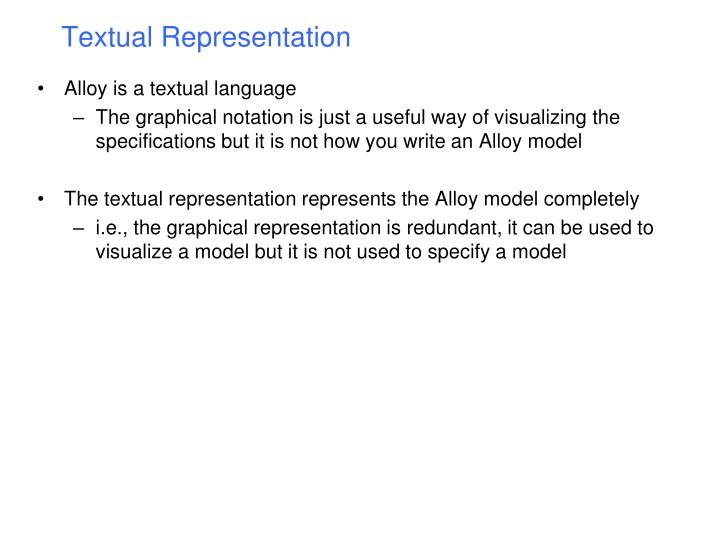 Textual Representation