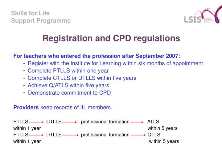 Registration and CPD regulations