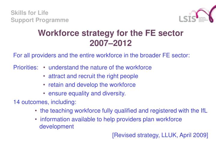 Workforce strategy for the FE sector